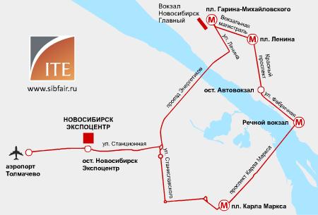 Схема проезда в ВК Новосибирск