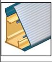 Бортик пристеночный треугольный алюминиевый, 45х25 мм, L=4000 мм, алюминий рифленый