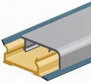 M390050S01 Пристен.бортик прямоуг., 10х30 мм, L=4000 мм, алюмин.
