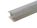 Соединитель 135гр. цоколя ПВХ пластик Алюминий шлифованый L=1м FIRMAX