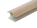 Соединитель 135гр. цоколя ПВХ пластик Дуб беленый L=1м FIRMAX