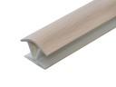 Соединитель 135гр. цоколя ПВХ пластик Дуб млечный L=1м FIRMAX