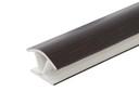 Соединитель 135гр. цоколя ПВХ пластик Венге L=1м FIRMAX