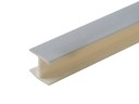 Соединитель 180гр. цоколя ПВХ пластик Алюминий гладкий L=1м FIRMAX