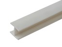 Соединитель 180гр. цоколя ПВХ пластик Белый L=1м FIRMAX