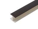 Соединитель 180гр. цоколя ПВХ пластик Венге L=1м FIRMAX