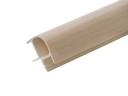 Соединитель 90гр. цоколя ПВХ пластик Дуб млечный L=1м FIRMAX